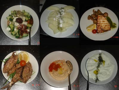 A selection of dishes from our Turkish restaurant in Edinburgh